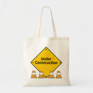 Under Construction with Cones Tote Bag