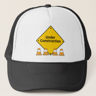 Under Construction with Cones Trucker Hat