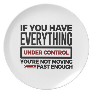 Under Control Too Slow More Speed Plate
