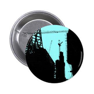 Under Contruction - Blue Pinback Buttons