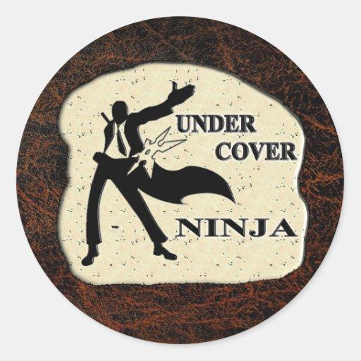 UNDER COVER NINJA ROUND STICKER