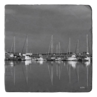 Under-dish, photograph black and white, boats trivet