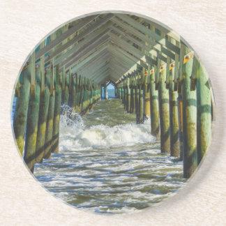 Under Folly Beach Pier Drink Coaster