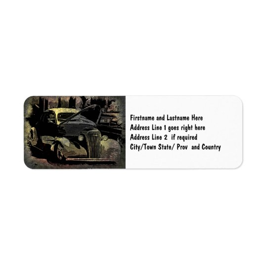 Under Her Hood - Grunge Car Art Return Address Label