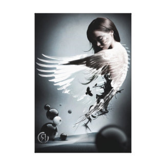 Under her wing canvas print