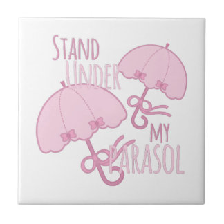 Under My Parasol Small Square Tile