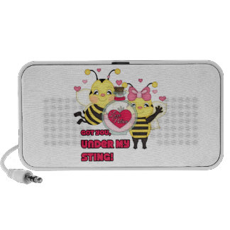 Under My Sting Funny Valentine Bees iPhone Speaker