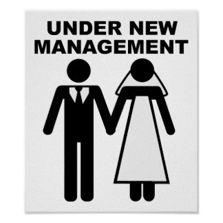 Under New Management Funny Poster