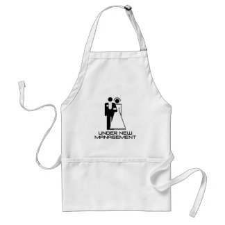 Under New Management Married Adult Apron