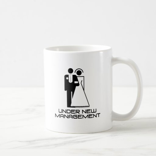 Under New Management Married Mugs