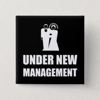 Under New Management Wedding 15 Cm Square Badge