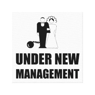 Under New Management Wedding Ball Chain Canvas Print