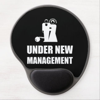 Under New Management Wedding Ball Chain Gel Mouse Pad
