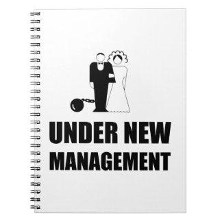 Under New Management Wedding Ball Chain Notebooks