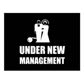 Under New Management Wedding Ball Chain Postcard