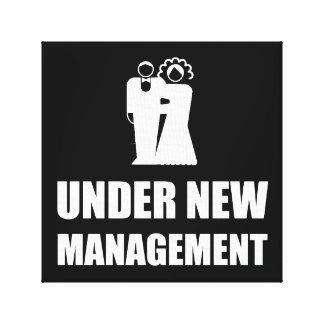 Under New Management Wedding Canvas Print