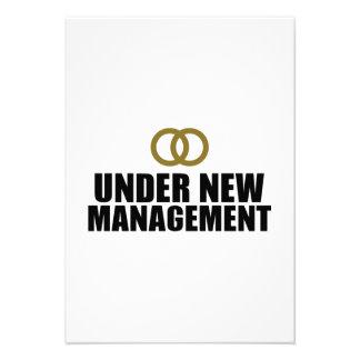Under New Management Wedding Announcement
