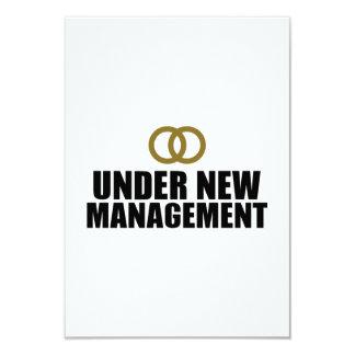 Under New Management Wedding 3.5x5 Paper Invitation Card