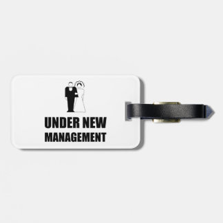 Under New Management Wedding Luggage Tag