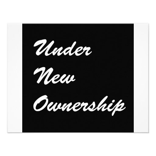 Under New Ownership Custom Announcements