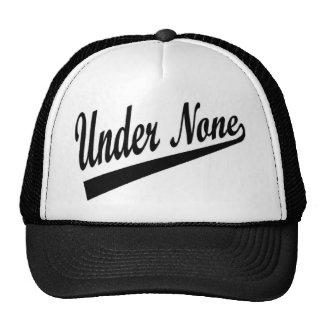 Under None Softball Hat