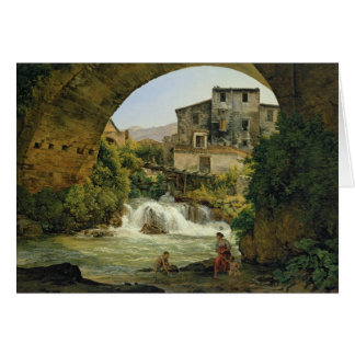 Under the arch of a bridge in Italy, 1822 Card