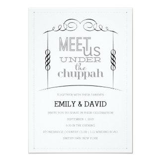 Under the Chuppah Jewish Wedding Invitation