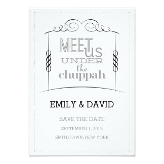 Under the Chuppah Jewish Wedding Save the Date Card