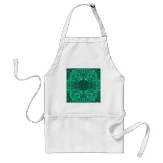 Under the Emerald Sea Kaleidoscope Standard Apron