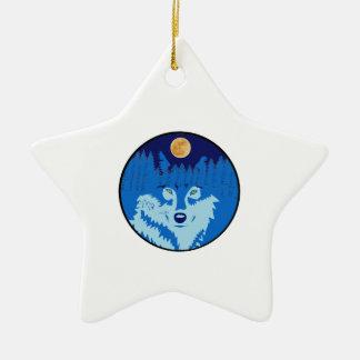 Under the Full Moon Ceramic Ornament