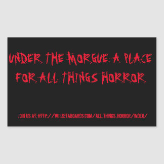 Under The Morgue Black/Red Stickers