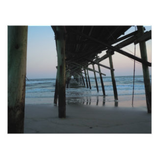 Under the Pier - Oak Island, NC Photo Print