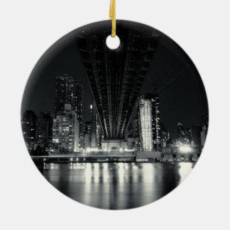 Under the QueensBoro Bridge - NYC Ceramic Ornament
