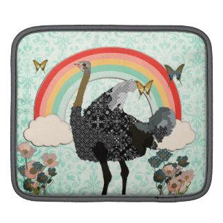 Under The Rainbow Ostrich iPad Sleeve
