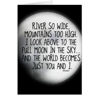 Under The Same Moon Poem Card