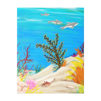 Under the Sea 3 Gallery Wrapped Canvas