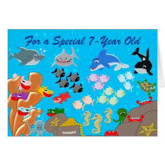 Under The Sea 7th Birthday Greeting Card