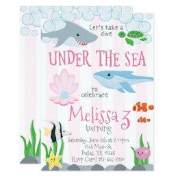 Under The Sea Birthday Party Invitations Announcements Zazzlecomau