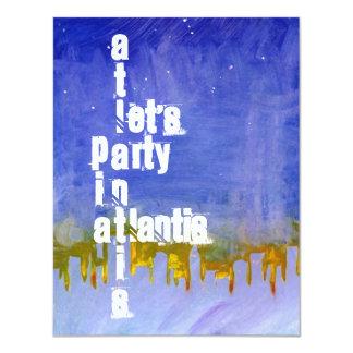 """UNDER THE SEA"" ATLANTIS THEMED PARTY INVITATION"