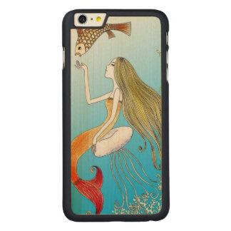 Under the Sea Beautiful Mermaid Carved Maple iPhone 6 Plus Case