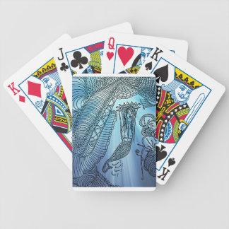 Under the sea bicycle playing cards