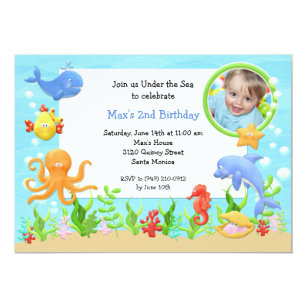 Under The Sea Birthday Party Invitations Announcements Zazzlecomau
