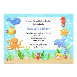 Under the Sea Birthday Party Invitation