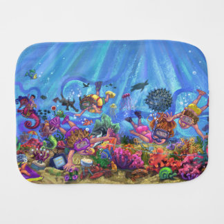 Under the Sea Burp Cloth