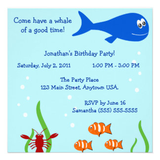 Under The Sea Children s Birthday Party Personalized Announcements