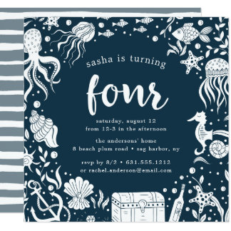 Under the Sea | Fourth Birthday Party Invitation