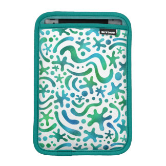 Under the Sea Funky Blob and Squiggle Pattern iPad Mini Sleeves
