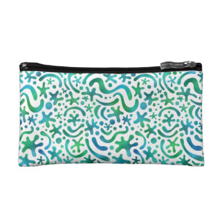 Under the Sea Funky Blob & Squiggle Pattern Bag Makeup Bag