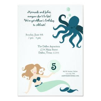 """Under the Sea"" Girl Birthday Party Invitation"