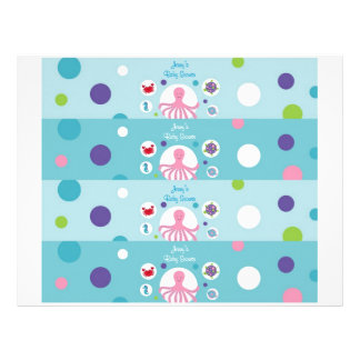 Under the Sea Girls Nautical Water Bottle Labels Flyer